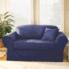 Sure Fit Twill Supreme Loveseat Slipcover (Box Cushion) - Sofa and Chair Shop