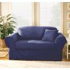 Sure Fit Twill Supreme Separate Seat Sofa Slipcover (Box Cushion) - Sofa and Chair Shop