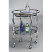 Salsa Contemporary Serving Cart Metal Topaz