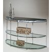 Demilune Contemporary Buffet Metal Topaz