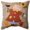 Harvest Scarecrow Throw Pillow