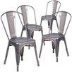 17 Stories Guglielmo Coated Metal Indoor Stackable Dining Chair