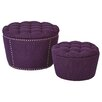 Lacey 2 Piece Tufted Storage Ottoman Set Upholstery: Klein Fig