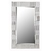Orren Ellis Silver Frame Wall Mirror - Orren Ellis Wall and Accent Mirrors