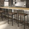 17 Stories Crystelle 2875 Bar Stool Color Gray MetalGray Wood