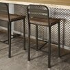 17 Stories Crystelle 2875 Bar Stool Color Semi trans MetalBrown Wood