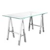 17 Stories Daryll 55 Dining Table Color Silver