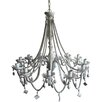 Beaded 6 Light Mini Chandelier