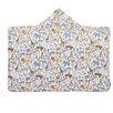 Dwell Studio Safari Printed Percale/Solid Woven Terry Hooded Bath Towel - Dwell Studio Bath Towels
