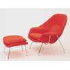 Knoll  Womb Chair and Ottoman - Customized - Sofa and Chair Shop