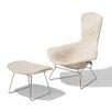 Knoll  Bertoia Bird Chair and Ottoman - Sofa and Chair Shop