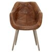 17 Stories Fonteyne Genuine Leather Upholstered Dining Chair