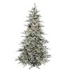 Flocked Vail 9' Green Artificial Christmas Tree with 1250 Prestrung Clear Lights