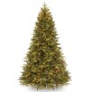 7.5' Green Pomona Pine Artificial Christmas Tree with 700 Clear Lights and Stand