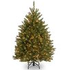 Dunhill Fir 5' Hinged Green Artificial Christmas Tree with 500 Clear Lights