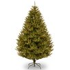 7.5' Green California Cedar Artificial Christmas Tree with 800 Clear Lights and Stand