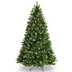 Crystal 7.5' Green Spruce Hinged Artificial Christmas Tree with 450 Clear Lights