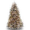 Dunhill Fir 8' Hinged Beige Artificial Christmas Tree with 800 Clear Lights