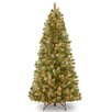 Wispy Willow 10' Green Artificial Christmas Tree with 1000 Clear Lights and Stand