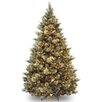 Carolina Pine 7.5' Hinged Pine Artificial Christmas Tree with 750 Clear Lights