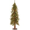 Hickory Cedar 4' Green Artificial Christmas Tree with 100 Clear Lights