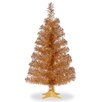 3' Champagne Artificial Christmas Tree and Stand