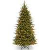 Nordic 7.5' Green Spruce Artificial Christmas Tree with 600 LED Lights and Stand