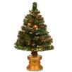Fiber Optic Radiance Fireworks 4' Green Artificial Christmas Tree with Base