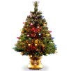 Fiber Optic 4' Green Artificial Christmas Tree with LED Multi Light and Stand