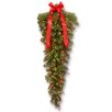 Crestwood Spruce 4' Teardrop Artificial Christmas Tree with 100 Clear Lights