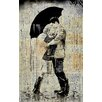 'Black Umbrella' by Loui Jover Painting Print on Wrapped Canvas Size: 26