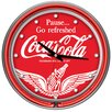 Trademark Global Wings Coca Cola Neon Clock with 2 Neon Rings