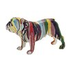 Woodland Imports Beautiful & Colorful Bulldog Figurine