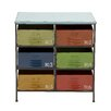 Colorful Metal Wood Storage Chest