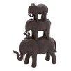 Polystone African Elephants Figurine