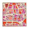 DENY Designs Paris Map by Holli Zollinger Framed Graphic Art Plaque
