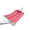 Hammock with Hammock Stand, Quilted Pad and Pillow