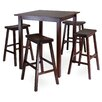 Parkland High Pub Table Saddle Seat Stools 230 285