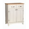 White Base and Natural Wood Top Buffet 1294 - 7313