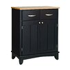 Black Base and Natural Wood Top Buffet 1224 2099