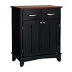 Black Base and Wood Top Buffet 1294 636