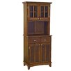 Cherry Buffet Top and Glass Door Hutch 1151 2108