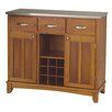 Large Cottage Oak Base and Stainless Steel Top Buffet 1289 593