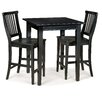 Arts and Crafts Counter Height Pub Table Set Ebony 473 - 2841