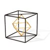 Wire Cube Sculpture Size: 4