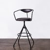 17 Stories Dhrub Bar Stool Upholstery Storm Black