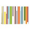 iCanvas Striped Pastel Piano Keys Graphic Art on Canvas