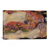 iCanvas 'Water Serpents II 1907' by Gustav Klimt Painting Print on Wrapped Canvas - iCanvas Wall Art