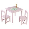 Viv + Rae Pam Kids 3 Piece Square Table and Chair Set - Children's Tables and Sets Kids Furniture