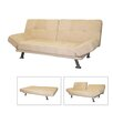 ORE Adjustable Futon Convertible Sofa Bed in Camel - Sofa and Chair Shop